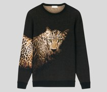 Jacquard-Pullover mit Animalier-Motiv