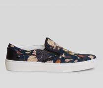 Slipper-Sneaker mit Printmotiv Tiger und Seerosen