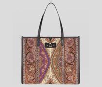 Paisley Jacquard Shoppingtasche