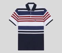 Baumwoll-Poloshirt mit Streifen