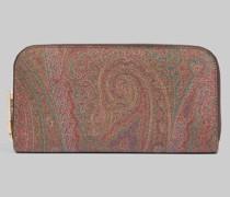 Paisley Brieftasche mit Reissverschluss