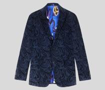 Sartoriales Sakko aus Samt mit Paisley-Muster