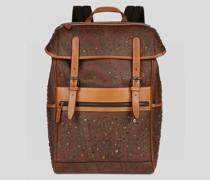 Rucksack aus Paisley-Stoff mit Nieten
