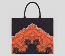 Shoppingtasche Matelassé mit Paisley-Print