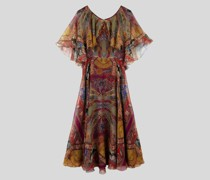 Kleid aus Seide mit Floralem Print