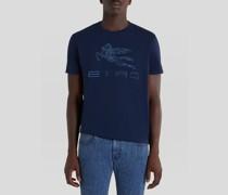 T-Shirt mit Aufgesticktem Pegaso