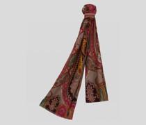 Schal aus Wolle und Seide mit Paisley-Print