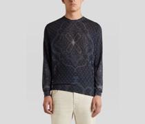Pullover aus Seide und Kaschmir mit Platziertem Print