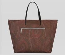 Wende-Shoppingtasche mit Paisley-Print