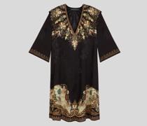 Tunikakleid mit Paisley-Print