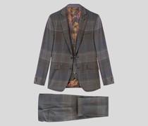 Dreiteiliger Glencheck-Anzug