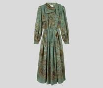 Kleid aus Halbwolle mit Paisley-Print