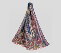 Schal aus Leinen und Seide mit Paisley-Print
