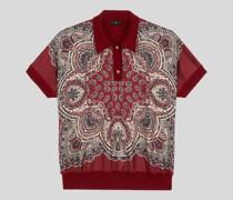 Bedrucktes Poloshirt aus Wollstrick
