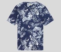 Florales Leinen T-Shirt