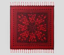 Jacquard-Schal mit Geometrischem Motiv