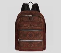 Rucksack aus Stoff mit Teppichmuster-Print