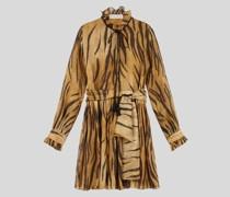 Kurzes Kleid mit Animalier-Print