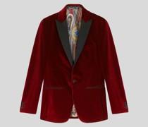 Sartoriales Sakko aus Samt mit Revers Im Farbkontrast