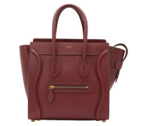 Micro Luggage handbag in tanned calfskin
