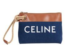 Tasche Marin aus Denim und Kalbsleder