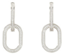 Edwige crystal and brass hoop earrings