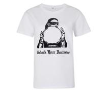 Klassisches T-Shirt Mit Rundhalsausschnitt Print Flock Lady