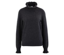 Frilled roll-neck sweatshirt