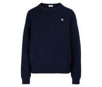 Ribbed round-neck wool jumper