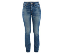 Mid-rise trousers in denim