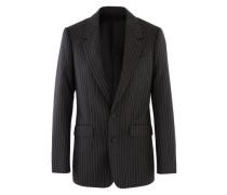 Klassische Jacke aus Schurwolle mit Streifen