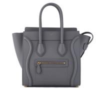 Micro luggage handbag in calfskin