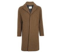 Mantel Mac aus Wolle Mit Hahnentritt-Muster und 3 Knöpfen