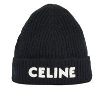 Bestickte Wollmütze Celine