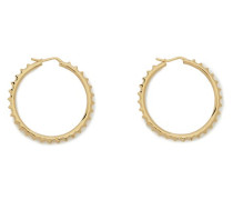 Pyramid Studs brass hoop earrings