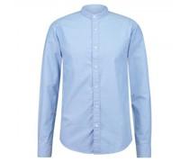 Regular-Fit Hemd mit Stehkragen