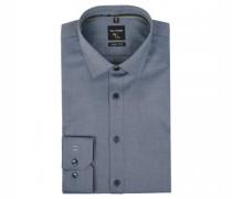 Slim-Fit Hemd mit filigranem Webmuster