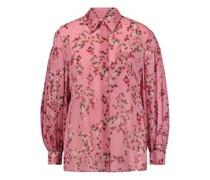 Bluse mit Kirschblüten-Print