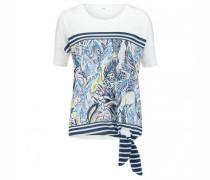 T-Shirt 'Carlotta' mit Musterung