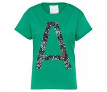 T-Shirt 'Nalin' Buchstaben-Patch