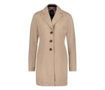 Lange Jacke mit Reverskragen
