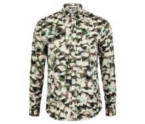 Slim-Fit Hemd 'Bryson' mit Musterung