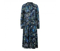 Midikleid mit All-Over Muster
