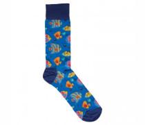 Socken mit Fisch-Motiv