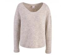 Oversized Pullover mit Ärmelumschlag