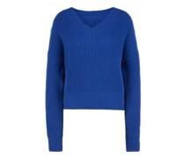 Pullover mit V-Ausschnitt und Schulterpolster