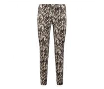 Skinny-Fit Hose Penny mit schwarzem Muster