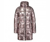 Steppjacke 'Kay Lake' mit Kapuze in Metallic-Optik