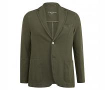 Slim-Fit Sakko aus Jersey mit kontrastfarbigen Knöpfen