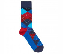 Socken mit Rauten-Muster